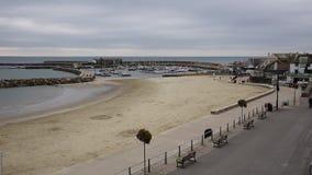 Lyme Regis Dorset Anglia UK plaża i schronienie zbiory