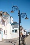 LYME REGIS, DORSET/UK - 22. MÄRZ: Ansicht der Promenade bei Lyme Lizenzfreie Stockfotografie