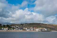 LYME REGIS, DORSET/UK - 22. MÄRZ: Ansicht von Lyme Regis vom H Stockfotografie