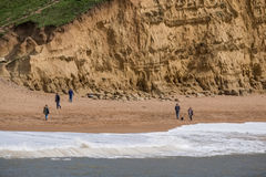 LYME REGIS, DORSET/UK - MARS 22: Jurassic kustlinje på beträffande Lyme Royaltyfria Bilder