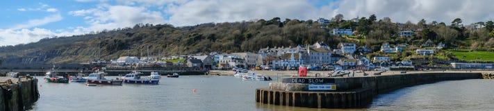 LYME REGIS, DORSET/UK - MARZEC 22: Widok Lyme Regis od H Fotografia Stock