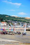 Lyme Regis harbour and beach. Royalty Free Stock Photography