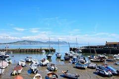 Lyme Regis Harbour. Stock Photo