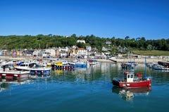 Lyme Regis Harbour - June 2015 Stock Images
