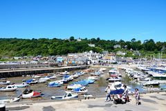 Lyme Regis Harbour and town. Royalty Free Stock Photo