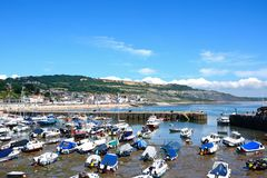 Lyme Regis Harbour and town. Stock Image
