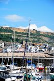Lyme Regis harbour and town. Royalty Free Stock Photos