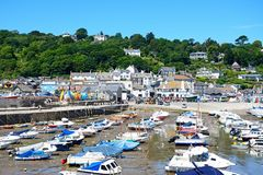 Lyme Regis Harbour and town. Stock Images