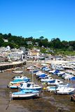 Lyme Regis harbour and town. Royalty Free Stock Images