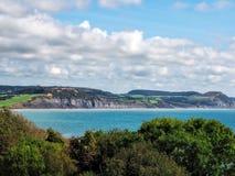 Lyme Regis - o trajeto litoral negligencia imagem de stock royalty free