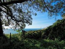 Lyme Regis - o trajeto litoral negligencia fotografia de stock royalty free
