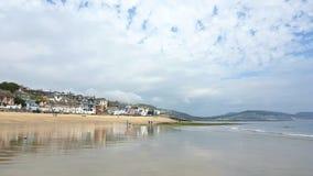 Lyme REGIS op de kust van Dorset, het UK stock foto's