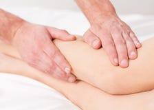 Lymfatisk dräneringterapi för massage royaltyfria foton