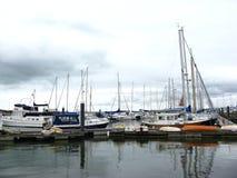 Lymington. England. Yacht parking. royalty free stock photo