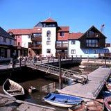 Lymington-Hafen Stockbild