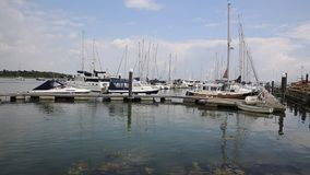 Lymington Hampshire England uk on the Solent Royalty Free Stock Image