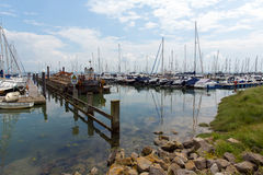 Lymington marina Hampshire England UK på den Solent neren den nya skogen arkivbilder