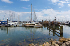 Lymington marina Hampshire England uk on the Solent near the New Forest Stock Photography
