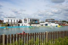 Lymington Marina Hampshire Großbritannien Stockbild