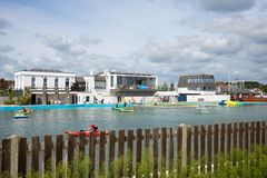 Lymington Marina Hampshire R-U Image stock
