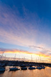 Lymington Sunset Royalty Free Stock Image