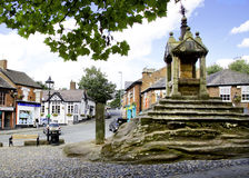 Lymm Cross. Monument dating back to the 17th Century in the village of Lymm, Cheshire, England Stock Photo