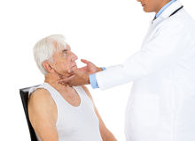 Lymph node examination Stock Photography