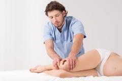 Lymphatic drainage massage Royalty Free Stock Image