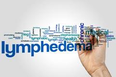 Lymphedema-Wortwolke Stockfotos