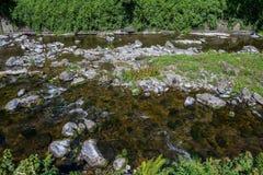 Lyn River est dans Lynmouth photo libre de droits