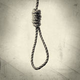 Lynch's loop with texture. Image hanging rope with Lynch's loop on a  background with texture Royalty Free Stock Photos