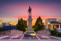 Lynchburg, Virginia Monument Terrace. Lynchburg, Virginia, USA cityscape at Monument Terrace stock photos