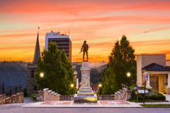 Lynchburg, Virginia at Monument Terrace. Lynchburg, Virginia, USA cityscape at Monument Terrace in the morning Stock Image