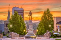Lynchburg, Virginia, USA. Monuments and cityscape stock photography