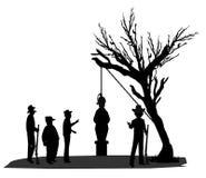 Lynchen im Schattenbild Stockfotografie