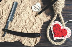 Lynching the feeling of love. View from above.  Stock Photography