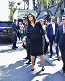 Lynda Carter. Gets a star on the Hollywood Walk of Fame Stock Photography
