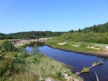 Lynda - a river in Mari El Republic Stock Photography