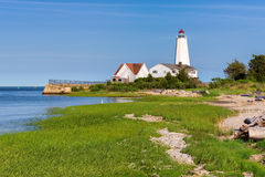Lynde Point Lighthouse, Old Saybrook, Connecticut. USA Stock Photo