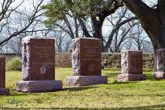 lyndon总统和Bird Johnsons夫人坟墓 库存照片