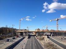 LYNGBYVEG budowy drogi Zdjęcie Royalty Free