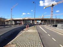 LYNGBYVEG budowy drogi Obrazy Royalty Free