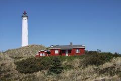 Lyngvig Lighthouse stock photo