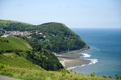 Lynmouth from Countisbury hill, Exmoor Royalty Free Stock Photography