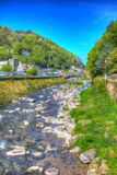 Lynmouth Devon river running towards the town England UK Stock Photos