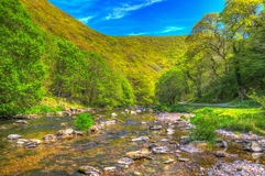 Lynmouth Devon walk to Watersmeet along the river England UK Stock Photography