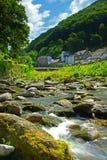 lynmouth exmoor Девона Англии Стоковые Изображения