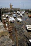 Lynmouth hamn, Devon England Arkivfoto