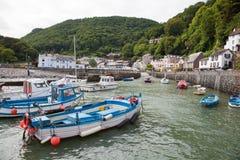 Lynmouth hamn i Devon UK Royaltyfri Foto