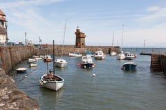 Lynmouth hamn i Devon UK Arkivfoto